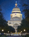 The Texas Capitol with Stars